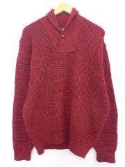 L★古着 長袖 セーター 90年代 アメリカンイーグル American Eagle ショールカラー ウール USA製 赤 レッド 【spe】 19sep16 中古 メンズ ニット トップス