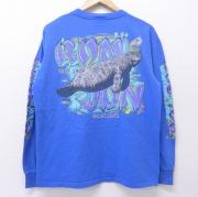 XL★古着 長袖 ビンテージ Tシャツ 90年代 90s ロンジョン ジュゴン 青 ブルー 【spe】 20jun03 中古 メンズ