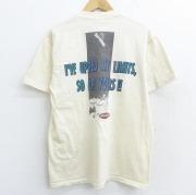 M★古着 半袖 ビンテージ Tシャツ 90年代 90s スノーボード ATTITUDE コットン クルーネック USA製 生成り 【spe】 21apr27 中古 メンズ