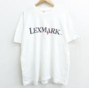 XL★古着 半袖 ビンテージ Tシャツ 90年代 90s LEXMARK Customers コットン クルーネック USA製 白 ホワイト 【spe】 21apr28 中古 メンズ