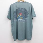XL★古着 半袖 ビンテージ Tシャツ メンズ 90年代 90s オペレーションゼロ 戦 コットン クルーネック 緑 グリーン 【spe】 21jun21 中古