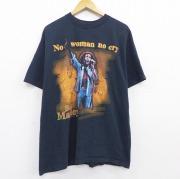 XL★古着 半袖 ビンテージ ロック バンド Tシャツ 90年代 90s ボブマーリー コットン クルーネック 黒 ブラック 【spe】 20sep17 中古 メンズ