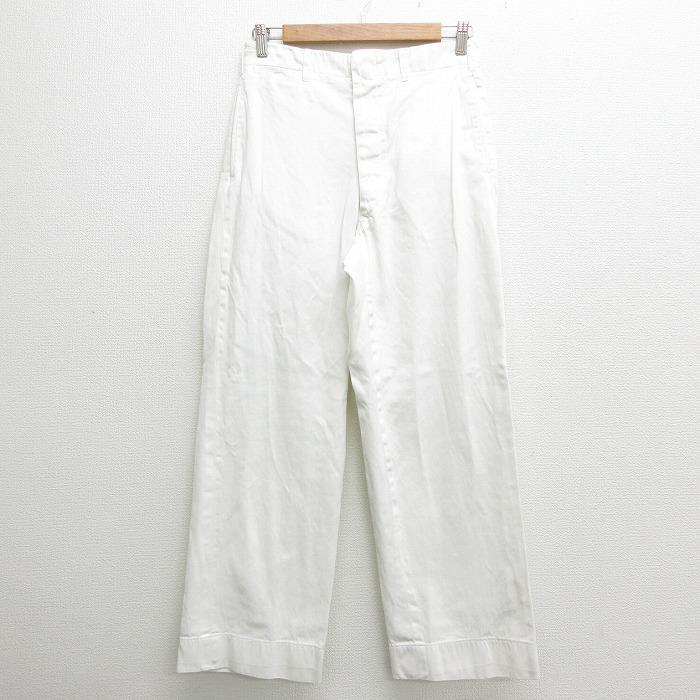 W30★古着 ビンテージ パンツ 60年代 60s USA製 白 ホワイト 【spe】 21apr05 中古 メンズ ボトムス ロング