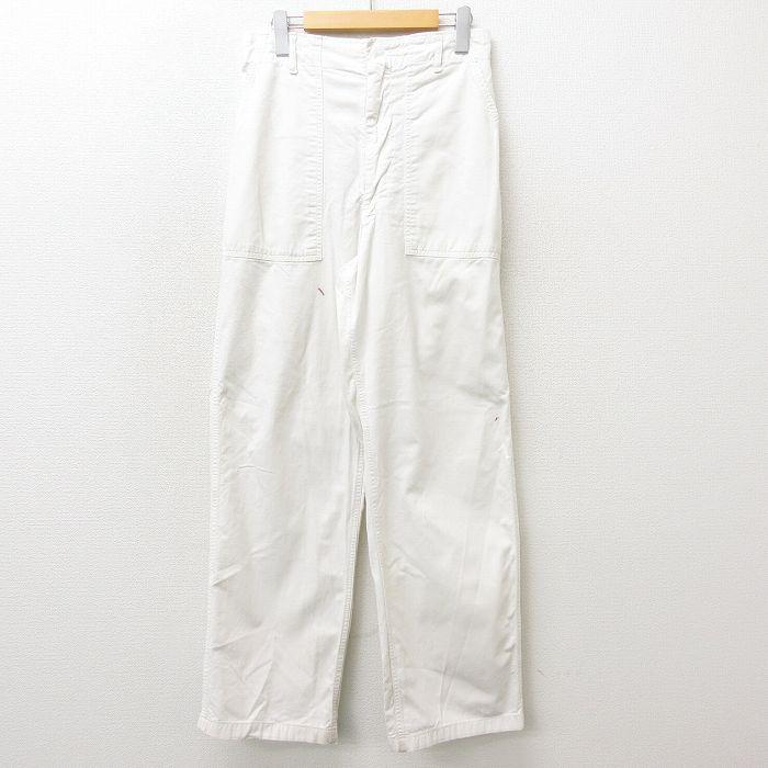 W32★古着 ビンテージ スラックス ベイカー パンツ メンズ 60年代 60s タロン 白 ホワイト 【spe】 21oct12 中古 ボトムス ロング
