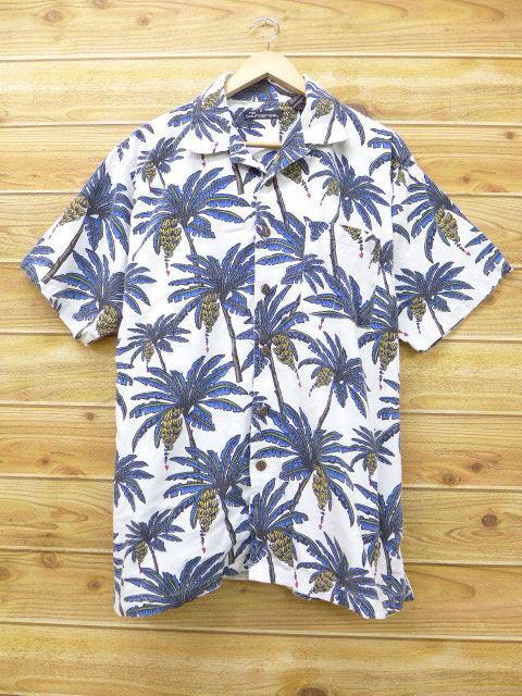 XL★古着 ハワイアン シャツ バナナ 白 ホワイト 18jun25 中古 メンズ 半袖 アロハ トップス