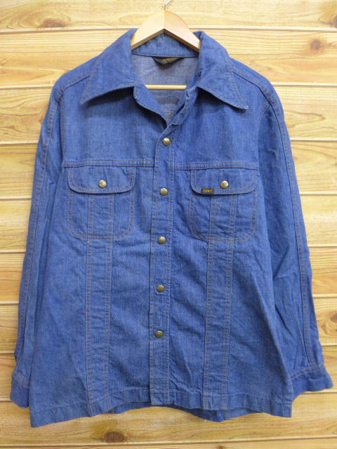 L★古着 シャツ ジャケット 80年代 リー Lee USA製 デニム 18sep26 中古 メンズ アウター