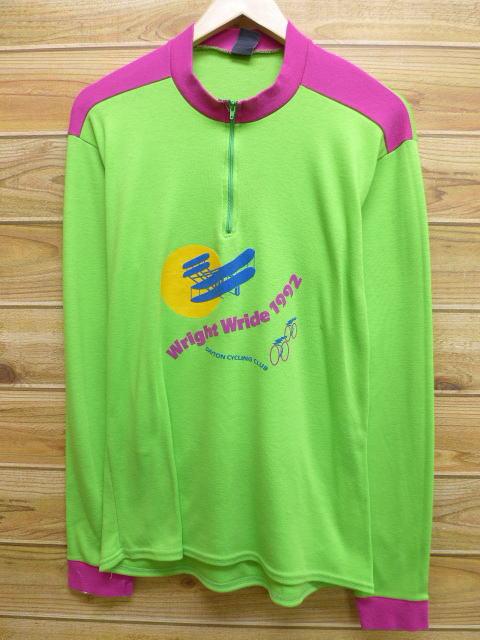 S★古着 長袖 サイクリング シャツ 90年代 自転車 USA製 緑 グリーン 【spe】 18mar22 中古 メンズ トップス
