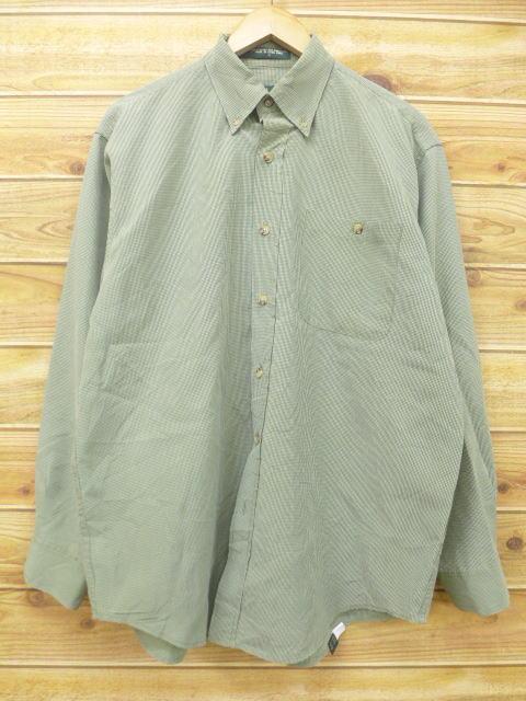 XL★古着 長袖 シャツ オービス ORVIS 緑 グリーン チェック 18aug06 中古 メンズ トップス