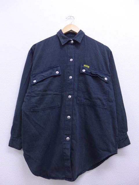 L★古着 長袖 シャツ 90年代 ジョーダッシュ 黒 ブラック 【spe】 19jan10 中古 メンズ トップス