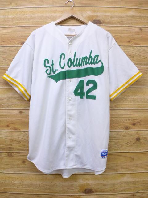 XL★古着 半袖 ベースボール シャツ 90年代 42 大きいサイズ USA製 白 ホワイト 18apr03 中古 メンズ トップス