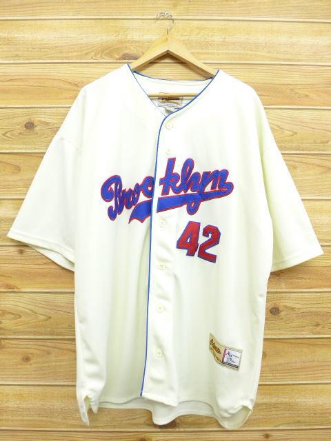 XL★古着 半袖 ベースボール シャツ ブルックリン 大きいサイズ 生成り 18apr13 中古 メンズ トップス