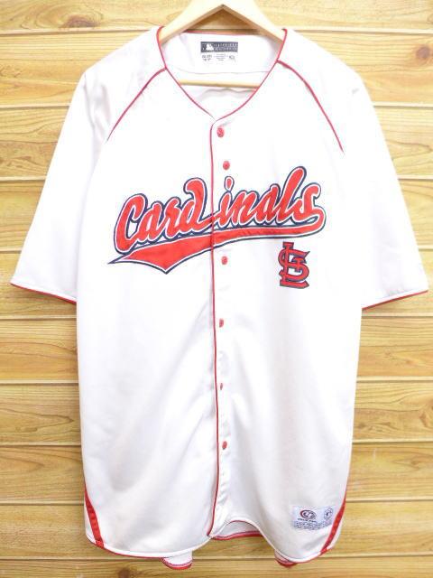 XL★古着 半袖 ベースボール シャツ MLB セントルイスカージナルズ 大きいサイズ 白 ホワイト 18may22 中古 メンズ トップス