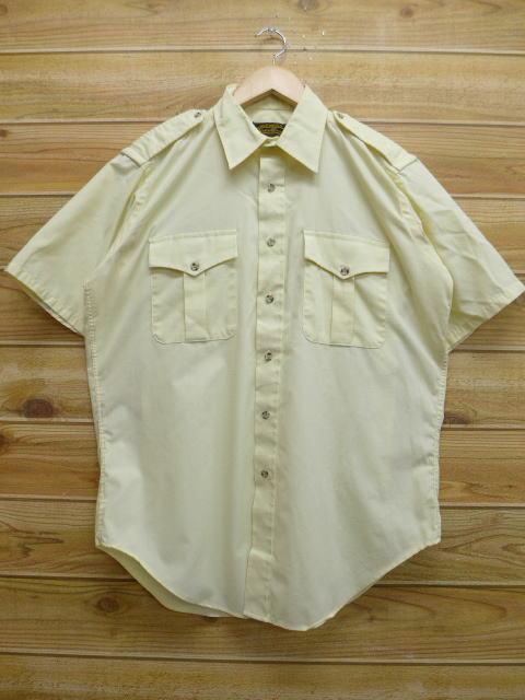 L★古着 半袖 シャツ 90年代 エディーバウアー USA製 薄黄 イエロー 18jun13 中古 メンズ トップス