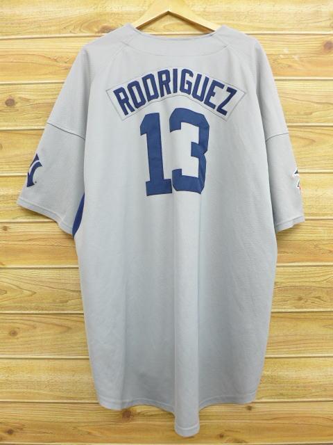XL★古着 半袖 ベースボール シャツ ナイキ NIKE MLB ニューヨークヤンキース アレックスロドリゲス 大きいサイズ グレー 18jun14 中古 メンズ トップス
