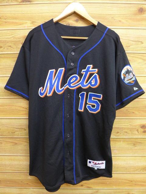 XL★古着 半袖 ベースボール シャツ MLB ニューヨークメッツ カルロスベルトラン 15 大きいサイズ USA製 黒 ブラック ユニフォーム 18jul04 中古 メンズ トップス