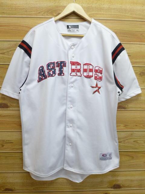 L★古着 半袖 ベースボール シャツ MLB ヒューストンアストロズ 白 ホワイト ユニフォーム 18jul05 中古 メンズ トップス