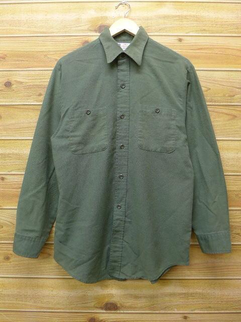 M★古着 長袖 ビンテージ ワーク シャツ 60年代 シアーズ USA製 緑 グリーン 18jun21 中古 メンズ トップス