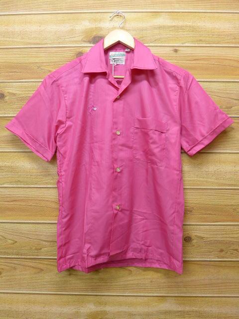 S★古着 半袖 ビンテージ シャツ 60年代 デッドストック ピンク 【spe】 18jun29 中古 メンズ トップス