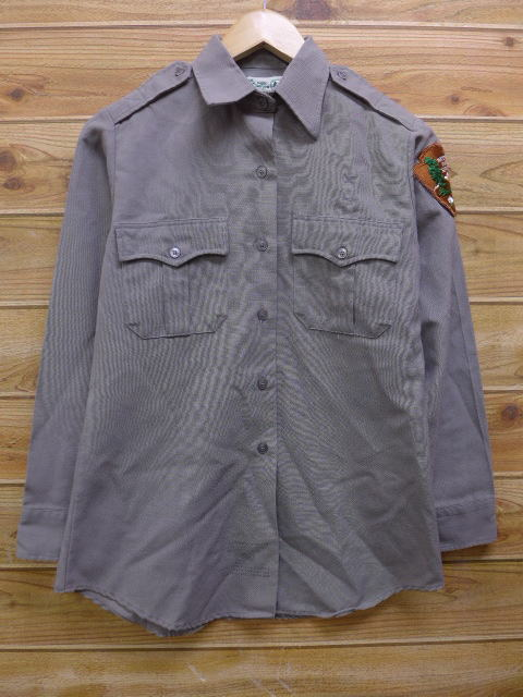 M★古着 長袖 ワーク シャツ 90年代 国立公園警備 USA製 グレー 18jan19 中古 メンズ トップス