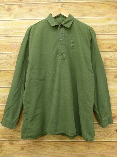 XL★古着 長袖 ミリタリー トップス 大きいサイズ 緑 グリーン 18jul05 中古 メンズ
