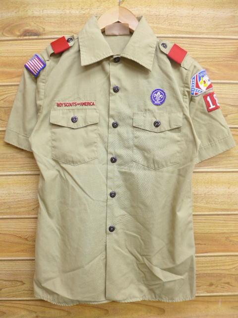 M★古着 半袖 ボーイスカウト シャツ ミシシッピ USA製 ベージュ カーキ 18apr10 中古 メンズ トップス