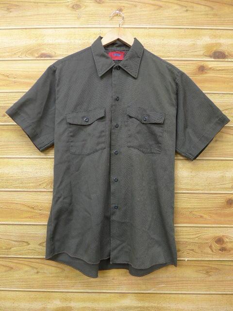 L★古着 半袖 ワーク シャツ 80年代 デッキーズ 濃緑 グリーン 18jun13 中古 メンズ トップス