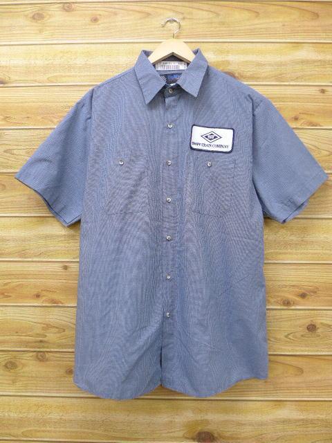 XL★古着 半袖 ワーク シャツ ST 大きいサイズ グレー 18jun27 中古 メンズ トップス