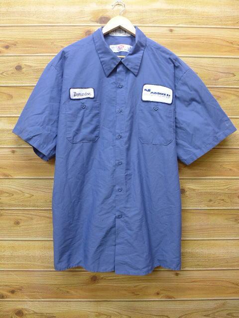 XL★古着 半袖 ワークシャツ NOPR 大きいサイズ グレー 18jun28 中古 メンズ トップス