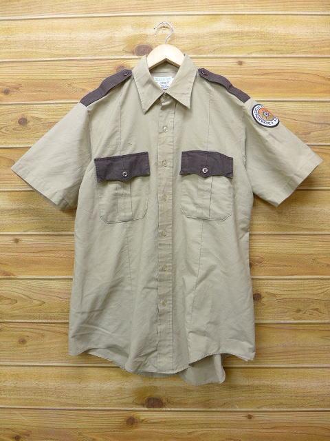 L★古着 半袖 ワークシャツ 90年代 DC USA製 ベージュ カーキ 18jun28 中古 メンズ トップス