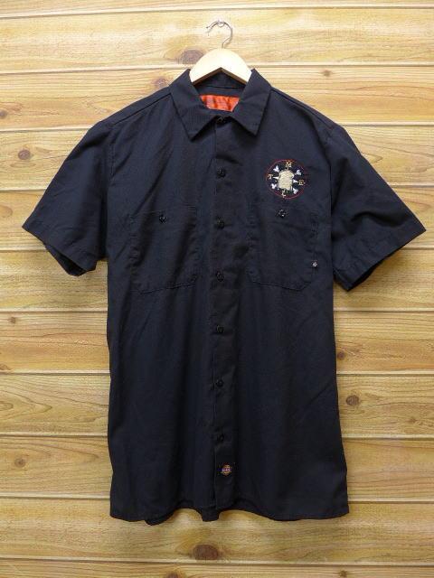M★古着 半袖 ワークシャツ デッキーズ 黒 ブラック 18jun28 中古 メンズ トップス