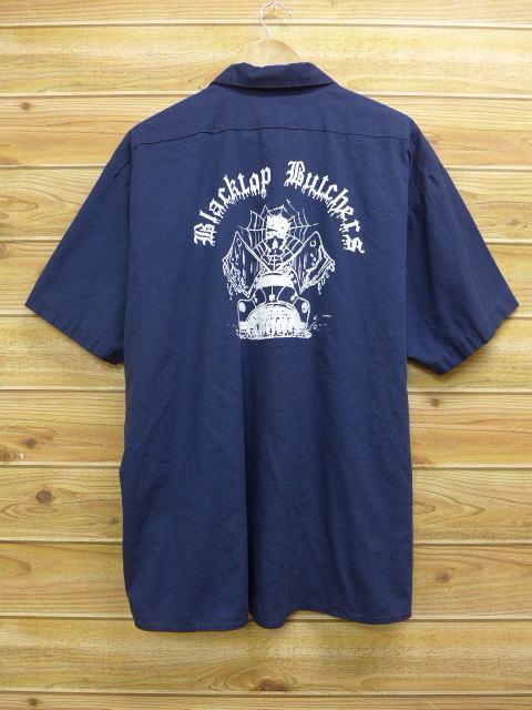 XL★古着 半袖 ワーク シャツ ブラックトップブッチャーズ 大きいサイズ 紺 ネイビー 【spe】 18jul10 中古 メンズ トップス