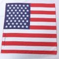 中古 バンダナ 90年代 90s ハバハンク 星条旗 USA製 赤 レッド 21mar19