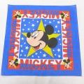 中古 ハバハンク バンダナ 90年代 90s ディズニー DISNEY ミッキー MICKEY MOUSE USA製 青 ブルー 【spe】 21jun15