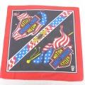 中古 ハーレーダビッドソン Harley Davidson バンダナ 80年代 80s 星条旗 USA製 赤他 レッド 21jun15