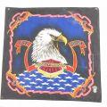 中古 ハーレーダビッドソン Harley Davidson バンダナ 80年代 80s 鳥 USA製 黒 ブラック 21jul27