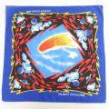 中古 バンダナ 80年代 80s ハレー彗星 USA製 青 ブルー 【spe】 21jul27