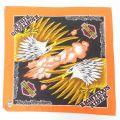 中古 ハーレーダビッドソン Harley Davidson バンダナ 80年代 80s 鳥 USA製 オレンジ 【spe】 21oct11
