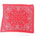 中古 ビンテージ バンダナ 70年代 70s ゾウマーク 花 ペイズリー柄 コットン 赤 レッド 21oct11