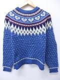 古着 レディース ノルディック セーター 90年代 ウールリッチ WOOLRICH ウール 青 ブルー 19feb14 中古 ニット トップス