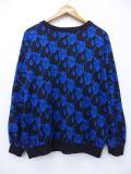 古着 レディース セーター 80年代 花 ドルマンスリーブ 大きいサイズ USA製 黒他 ブラック 19feb20 中古 ニット トップス