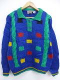 古着 レディース セーター 90年代 IVY 手編み 青 ブルー 19feb21 中古 ニット トップス