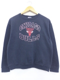 古着 レディース 長袖 スウェット 90年代 ダックヘッド NBA シカゴブルズ クルーネック USA製 黒 ブラック バスケットボール 19oct11 中古 スエット トレーナー トップス