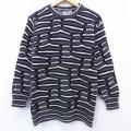 古着 長袖 セーター 90年代 90s クルーネック USA製 黒他 ブラック 20sep24 中古 ニット トップス