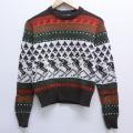 古着 長袖 セーター 80年代 80s スキー クルーネック こげ茶 ブラウン 20nov13 中古 ニット トップス