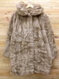 古着 レディース フェイクファー ジャケット コート 80年代 ベージュ カーキ 18jan15 中古 アウター ジャンパー ブルゾン