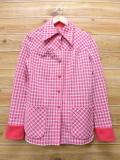 古着 レディース シャツ ジャケット 70年代 アレックスコールマン ピンク 18jan22 中古 アウター ジャンパー ブルゾン