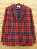 古着 レディース テーラード ジャケット 80年代 ペンドルトン PENDLETON ウール USA製 赤 レッド チェック 18jan30 中古 アウター ジャンパー ブルゾン