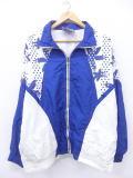 古着 レディース ナイロン ジャケット 90年代 花 大きいサイズ 白他 ホワイト 19mar18 中古 アウター ウインドブレーカー