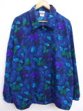 古着 レディース ジャケット 90年代 葉 大きいサイズ USA製 紺 ネイビー 19mar25 中古 アウター ジャンパー ブルゾン