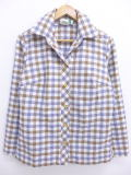 古着 レディース シャツ ジャケット 70年代 白他 ホワイト チェック 19jul08 中古 アウター ジャンパー ブルゾン